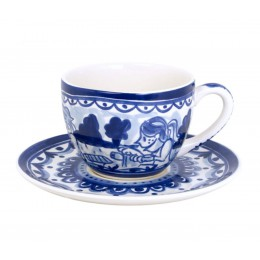 Blond Amsterdam Delfts Blond Cup and Saucer - Bicycles
