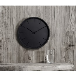 Huygens Tone black wall clock 25, 35, 45 cm