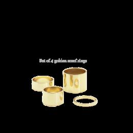Set van 4 staalkralen goudkleurig