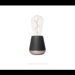 Humble One draadloze tafellamp in donkergrijs en nikkel