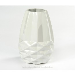 Diamond Vase S Fair trade original white facet small