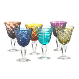 Pols Potten set of 6 colored designer wine glasses, unique gift idea