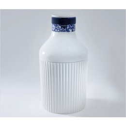 Collar Bottle no 1 by Royal Delft is a beautiful white bottle with a Delft blue design