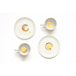 Espresso Cups Porcelain Golden Dirt