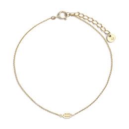 18 krt gouden armbandje Jordaan met bedel grachtenpandje