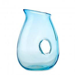 Pols potten water jug, water carafe Jug with hole turquoise