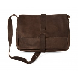 Gray/Brown Big Business laptop bag by Keecie
