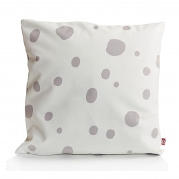 Messy dots pillows by Popsicle in light grey