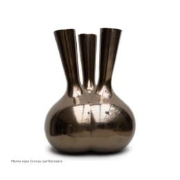Cor Unum Mama vaas brons aardewerk van Roderick Vos bij Holland Design & Gifts - bijzonder relatiegeschenk