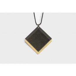 Bold jewelry David Derksen moire necklace