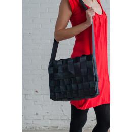 Sweatshop Deluxe bags, sustainable bag, office city bag, black laptop bag, design bag