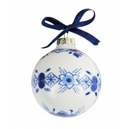 Delft blue Chistmas balls 6 cm by Royal Delft for a charming Christmas tree