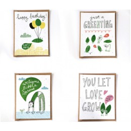 Plantable cards for get well and birthday