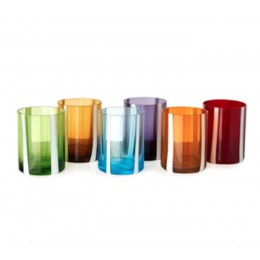 Pols Potten Water Glass or Tumbler White Stripe - set of 6 different colors
