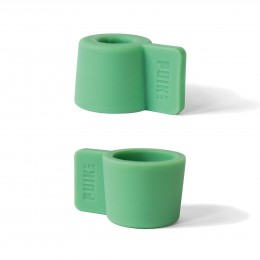 These tea light holders have a mint green color