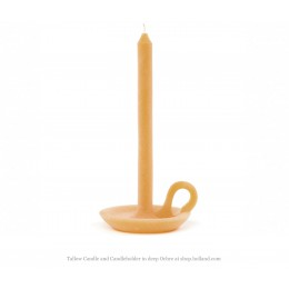 Candelstick holder and candle Tallow Ontwerpduo