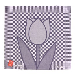 Tea Towel Tulip by Miffy for Hollandsche Waaren in blue and white