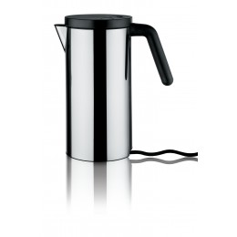 Black Alessi Hot.It stainless steel electric kettle by Wiel Arets