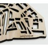 Typically Amsterdam: coasters in the shape of the city center of Amsterdam with its famous canals.
