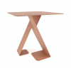 Front of Dance Table by dutch design brand ignore - red-brown