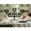 Black steel Candleholder