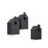 Amsterdam Canal birdhouses by Dutch designer Frederik Roijé: stylish garden decoration
