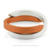Clic by Suzanne bracelet A1O in orange and silver aluminium at shop.holland.com