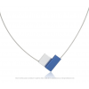 Necklace C150B in blue and silver by Clic Creations C150 zwart  by #Dutch #Designer Suzanne Schaars in silver and black