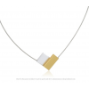 Necklace C150G in gold and silver by Clic Creations C150 zwart  by #Dutch #Designer Suzanne Schaars in silver and black