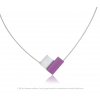 Necklace C150P in purple and silver by Clic Creations C150 zwart  by #Dutch #Designer Suzanne Schaars in silver and black