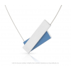 Clic necklace C183B in blue and silver alu