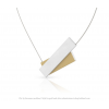 Clic by Suzanne C183G necklace in gold and silver alu