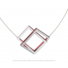 CLIC C30R necklace red and silver aluminium by Dutch Design brand CLIC by Suzanne at shop.holland.com