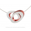 Clic Collier C70R red and silver aluminium at shop.holland.com
