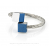 CLIC ring R4B in blue and silver aluminum at shop.holland.com
