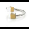 CLIC ring R4G in gold and silver aluminium at shop.holland.com