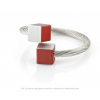 CLIC ring R4R in red and silver aluminium at shop.holland.com