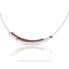 Clic Necklace C74R Silver and Red by Clic by Suzanne at shop.holland.com