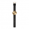 New design: Tube D38 watch by Piet Hein Eek for LEFF Amsterdam in brass with black leather strap