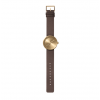 Gift suggestion: Tube D38 brass watch with bronw leather strap by Dutch designer Piet Hein Eek