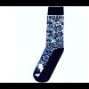 Delft blue sock design 4