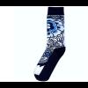 Delft blue sock design 1