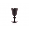 Dine in style with these designer wine glasses in clear or matte black crystal