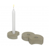 Set of 3 concreet candleholders - candles included