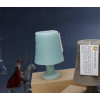 Table lamp candle in aqua