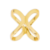 Scarf ring in gold colour