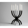 CCCLX Dinner Candlestick in black coated steel by Buro Bruno at shop.holland.com