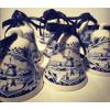 Jingle bells Christmas decoration in Delft blue porcelain