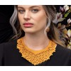 The Classic necklace ochre combines perfectly with the mini's earrings ochre