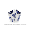 Folding vase Delft blue Small with bow by Hendrik'
